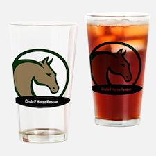 Circle F logo circular text Drinking Glass