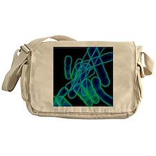Tuberculosis bacteria, artwork Messenger Bag