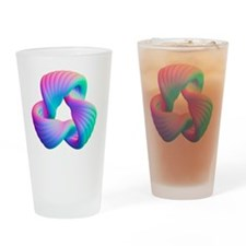 Torus knot, computer artwork Drinking Glass