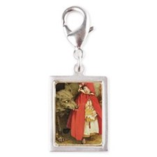 Little Red Riding Hood Silver Portrait Charm