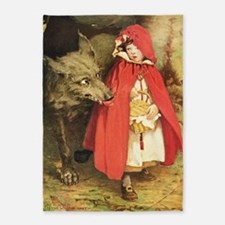 Little Red Riding Hood 5'x7'Area Rug