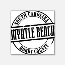 "Myrtle Beach Title W Square Sticker 3"" x 3"""