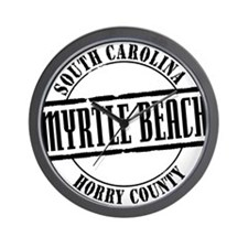 Myrtle Beach Title W Wall Clock