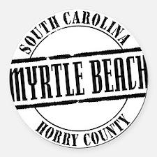 Myrtle Beach Title W Round Car Magnet