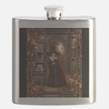Witch in Library Flask