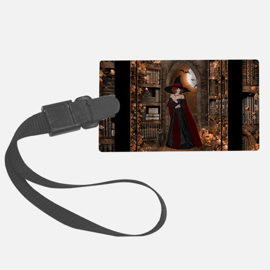 Witch in Library Luggage Tag