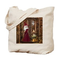 Witch with Candle Tote Bag