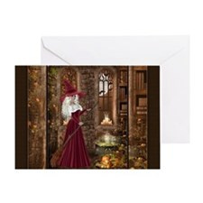 Witch with Candle Greeting Card