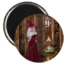 Witch with Candle Magnet