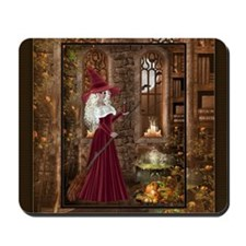 Witch with Candle Mousepad