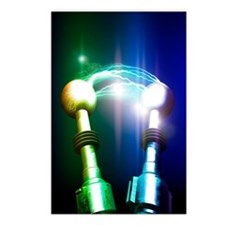 Tesla coils firing, artwo Postcards (Package of 8)