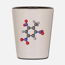 TNT molecule Shot Glass