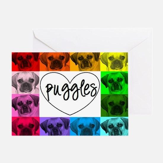 Puggle Collage 7 Greeting Card