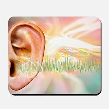 Tinnitus, conceptual artwork Mousepad