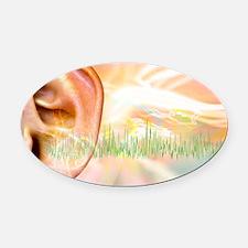 Tinnitus, conceptual artwork Oval Car Magnet