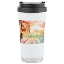 Tinnitus, conceptual artwork Travel Mug
