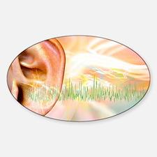 Tinnitus, conceptual artwork Decal
