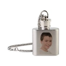 Teenage boy Flask Necklace