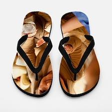 Taking medication Flip Flops
