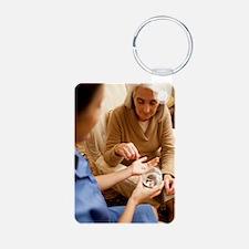 Taking medication Keychains