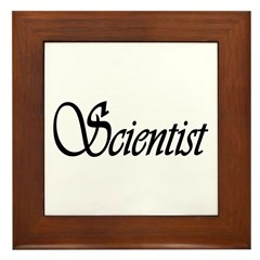 Scientist Framed Tile