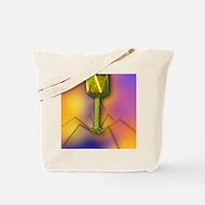 T4 bacteriophage virus, computer artwork Tote Bag