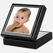 Teething baby girl Keepsake Box