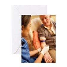 Taking a blood sample Greeting Card