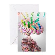Synaesthesia, conceptual artwork Greeting Card