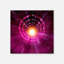 """Supernova explosion, artwor Square Sticker 3"""" x 3"""""""