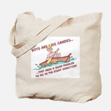 Boys Are Like Canoes Tote Bag