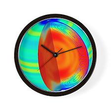 Sun structure Wall Clock