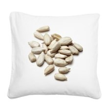 Sunflower seeds Square Canvas Pillow