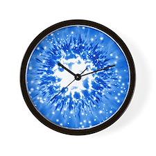 Supernova explosion, artwork Wall Clock