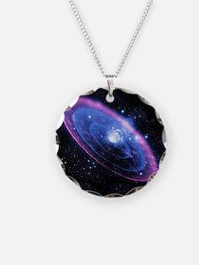 Supernova explosion, artwork Necklace