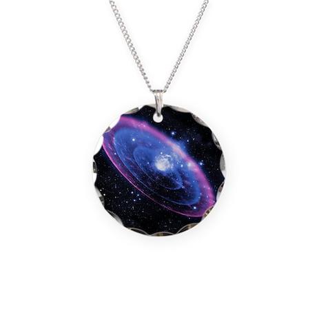Supernova explosion, artwork Necklace Circle Charm
