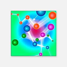 "Subatomic particles, artwor Square Sticker 3"" x 3"""
