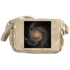 Spiral galaxy M101 Messenger Bag
