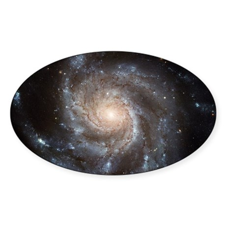 Spiral galaxy M101 Sticker (Oval)