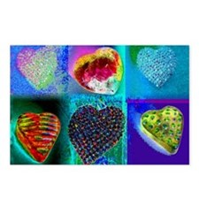 BLUESY HEARTS Postcards (Package of 8)