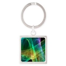 Strange attractor, artwork Square Keychain