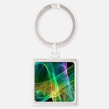 Strange attractor, artwork Square Keychain