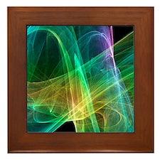 Strange attractor, artwork Framed Tile