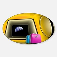 Space tourism, artwork Sticker (Oval)