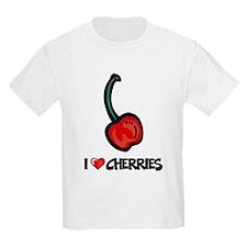I Love Cherries Kids T-Shirt
