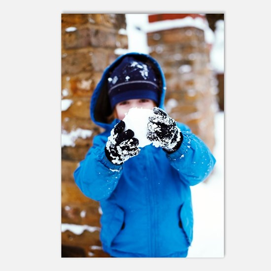 Snowball fight Postcards (Package of 8)