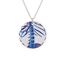 Spine, computer artwork Necklace