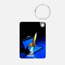 Space travel, conceptual a Keychains