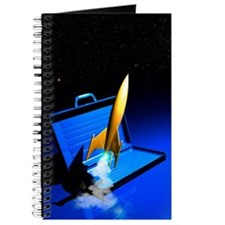 Space travel, conceptual artwork Journal