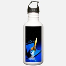 Space travel, conceptu Water Bottle
